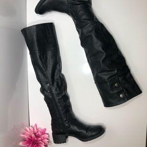 Moto tall black boots